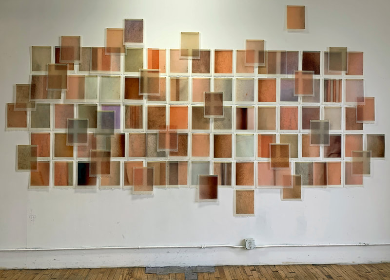 """Skin Tones"", installation of 3 person group show for Bushwick Open Studio curated by Michael David of M David and Co Gallery"